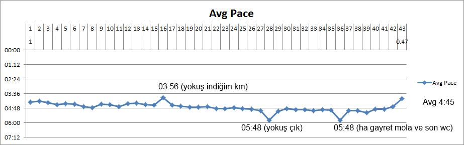 Maraton tempo grafiğim
