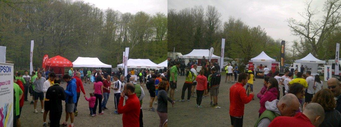 Organizasyon alanı, koşu sonrası