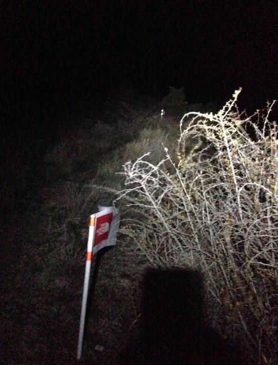 Bütün gece peşinden gittiğim işaretler... offroad etaplarda oldukça sık.